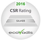 EcoVadis Silver CSR Rating 2016
