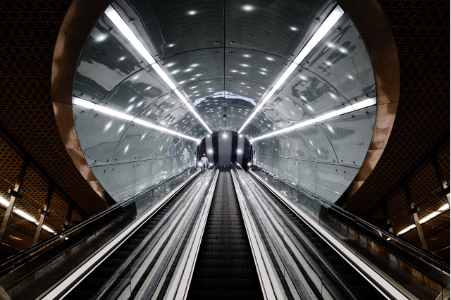 escalator in tunnel